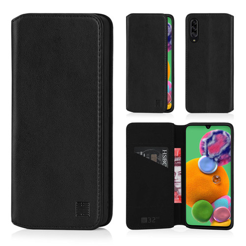 Samsung Galaxy A90 5G (2019) 'Classic Series 2.0' Real Leather Book Wallet Case