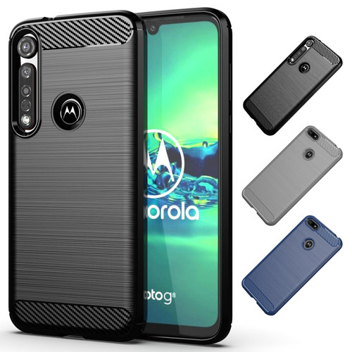 Motorola Moto G8 Plus 'Carbon Series' Slim Case Cover