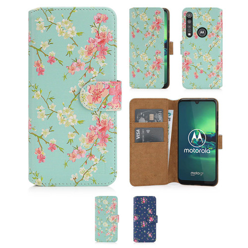 Motorola Moto G8 Plus 'Floral Series 2.0' PU Leather Design Book Wallet Case