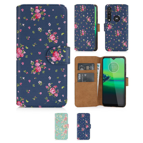 Motorola Moto G8 Play 'Floral Series 2.0' PU Leather Design Book Wallet Case