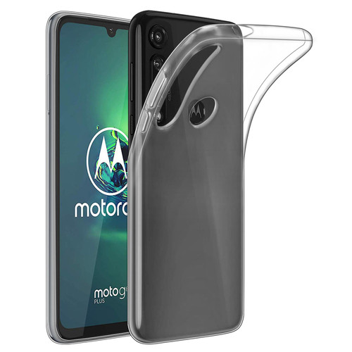 Motorla Moto G8 Plus) 'Clear Gel Series' TPU Case Cover - Clear