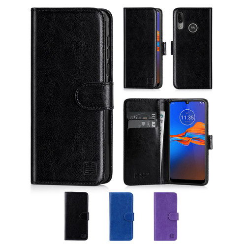 Motorola Moto E6 Plus 'Book Series' PU Leather Wallet Case Cover