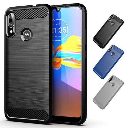 Motorola Moto E6 Plus 'Carbon Series' Slim Case Cover