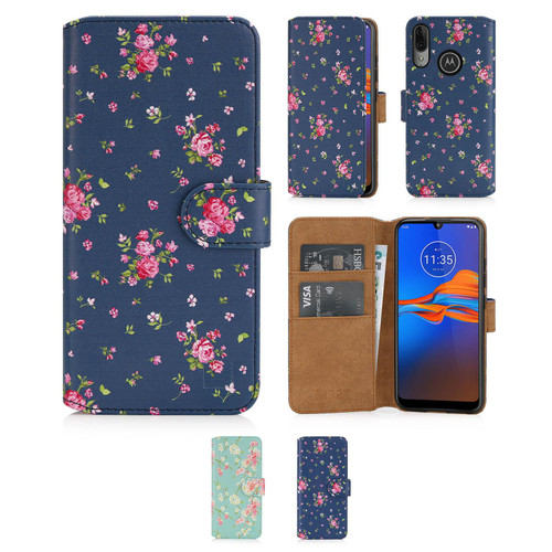 Motorola Moto E6 Plus 'Floral Series 2.0' PU Leather Design Book Wallet Case