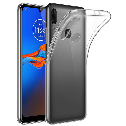 Motorla Moto E6 Plus 'Clear Gel Series' TPU Case Cover - Clear