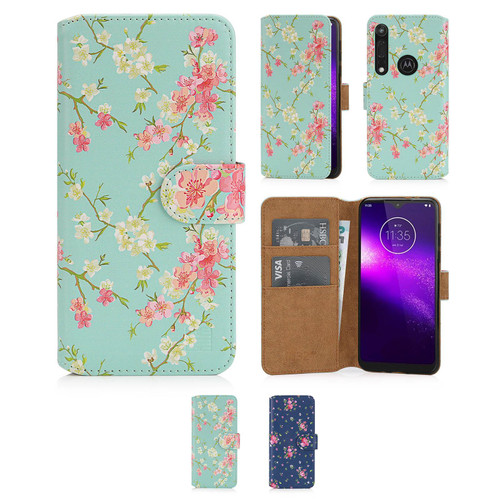 Motorola Moto One Macro 'Floral Series 2.0' PU Leather Design Book Wallet Case