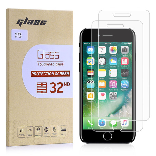 Apple iPhone 7, 8 & SE (2020) Tempered Glass Screen Protector - 2 Pack