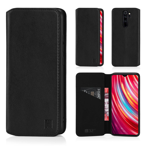 Xiaomi Redmi Note 8 Pro 'Classic Series 2.0' Real Leather Book Wallet Case