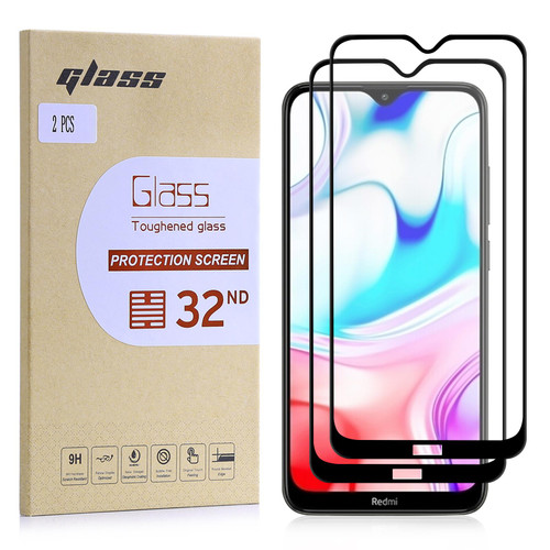 Xiaomi Redmi 8 Tempered Glass Screen Protector - 2 Pack