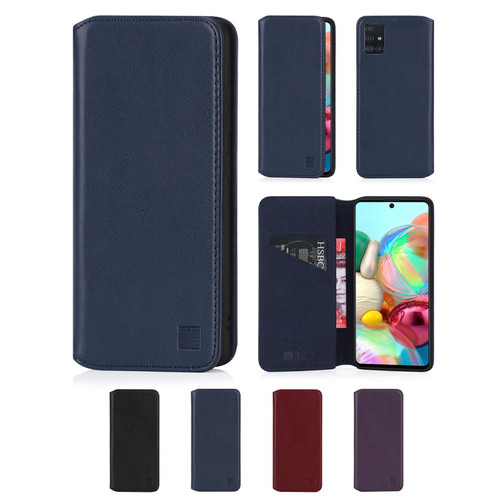 Samsung Galaxy A71 (2020) 'Classic Series 2.0' Real Leather Book Wallet Case