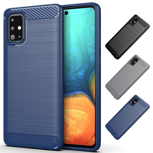 Samsung Galaxy A71 (2020) 'Carbon Series' Slim Case Cover