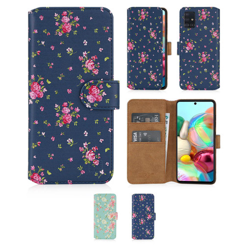 Samsung Galaxy A71 (2020) 'Floral Series 2.0' PU Leather Design Book Wallet Case