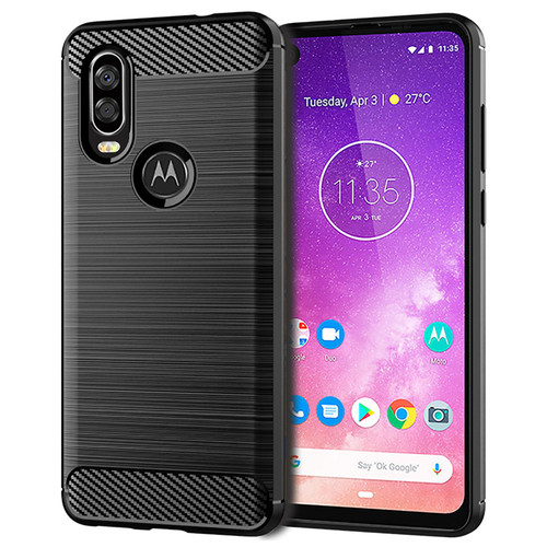 Motorola Moto One Action 'Carbon Series' Slim Case Cover