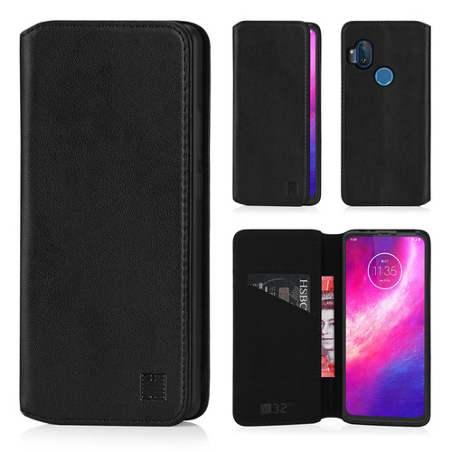 Motorola Moto One Hyper 'Classic Series 2.0' Real Leather Book Wallet Case