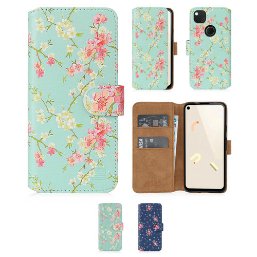 Google Pixel 4A 'Floral Series 2.0' PU Leather Design Book Wallet Case