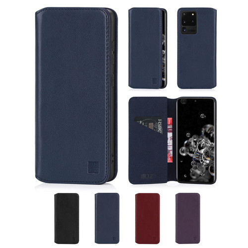 Samsung Galaxy S20 Ultra 'Classic Series 2.0' Real Leather Book Wallet Case