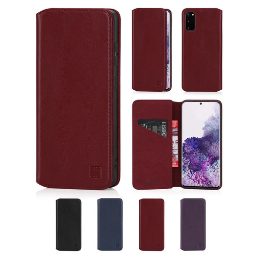 Samsung Galaxy S20 'Classic Series 2.0' Real Leather Book Wallet Case