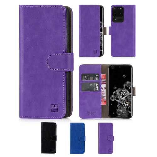 Samsung Galaxy S20 Ultra 'Book Series' PU Leather Wallet Case Cover