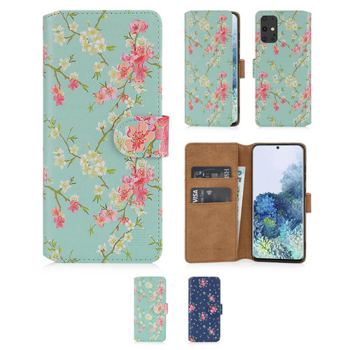 Samsung Galaxy S20 Plus 'Floral Series 2.0' PU Leather Design Book Wallet Case
