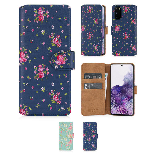 Samsung Galaxy S20 'Floral Series 2.0' PU Leather Design Book Wallet Case