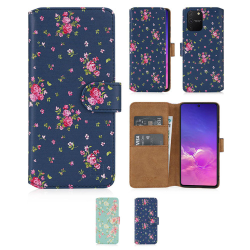 Samsung Galaxy S10 Lite 'Floral Series 2.0' PU Leather Design Book Wallet Case