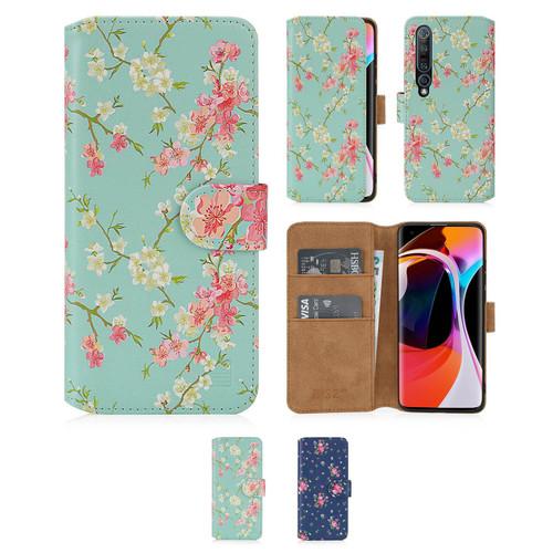 Xiaomi Mi 10 & Mi 10 Pro 'Floral Series 2.0' PU Leather Design Book Wallet Case
