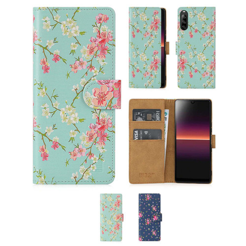 Sony Xperia L4 'Floral Series 2.0' PU Leather Design Book Wallet Case