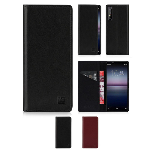 Sony Xperia 1 II (2020) 'Classic Series 2.0' Real Leather Book Wallet Case
