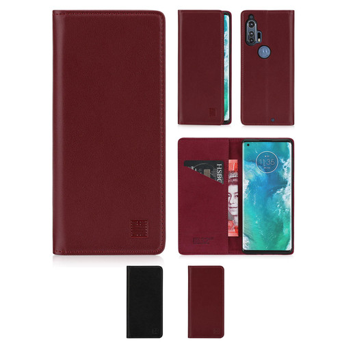 Motorola Moto Edge Plus 'Classic Series 2.0' Real Leather Book Wallet Case