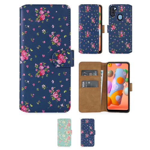 Samsung Galaxy A11 (2020) 'Floral Series 2.0' PU Leather Design Book Wallet Case