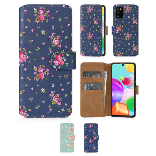 Samsung Galaxy A41 (2020) 'Floral Series 2.0' PU Leather Design Book Wallet Case
