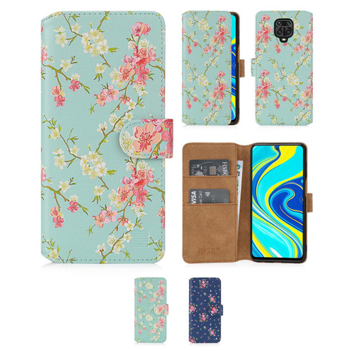 Xiaomi Redmi Note 9 Pro, Redmi Note 9 Pro Max & Redmi Note 9S 'Floral Series 2.0' PU Leather Design Book Wallet Case