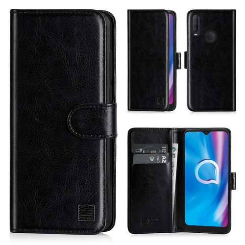 Alcatel 3L (2020) 'Book Series' PU Leather Wallet Case Cover