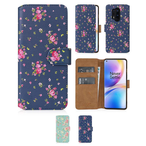 OnePlus 8 Pro 'Floral Series 2.0' PU Leather Design Book Wallet Case