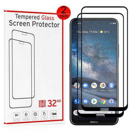 Nokia 8.3 (2020) Tempered Glass Screen Protector - 2 Pack