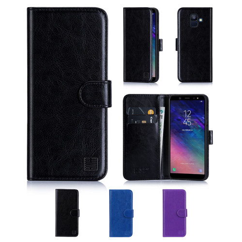 Samsung Galaxy A6 (2018) 'Book Series' PU Leather Wallet Case Cover