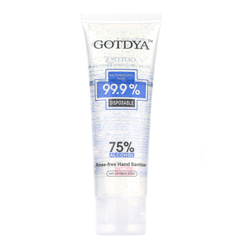 Gotdya Anti Bacterial Hand Sanitiser Gel 75% Alcohol - 10 X 80 ML