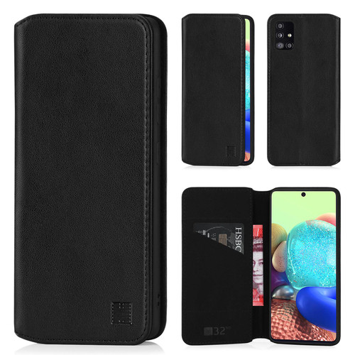 Samsung Galaxy A71 5G (2020) 'Classic Series 2.0' Real Leather Book Wallet Case