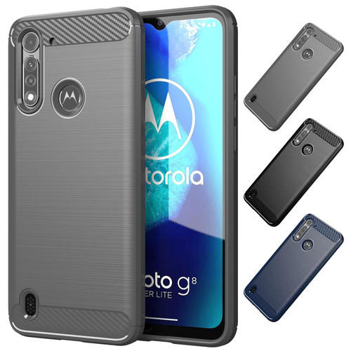 Motorola Moto G8 Power Lite 'Carbon Series' Slim Case Cover
