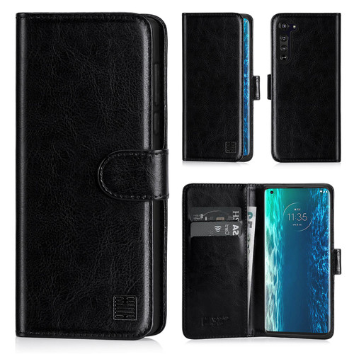 Motorola Moto Edge 'Book Series' PU Leather Wallet Case Cover