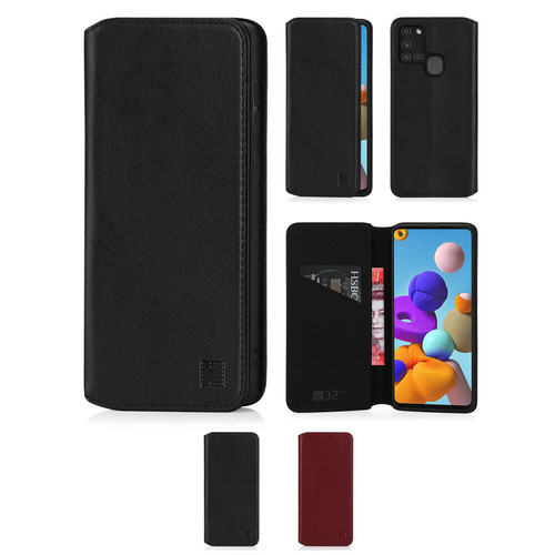 Samsung Galaxy A21S (2020) 'Classic Series 2.0' Real Leather Book Wallet Case