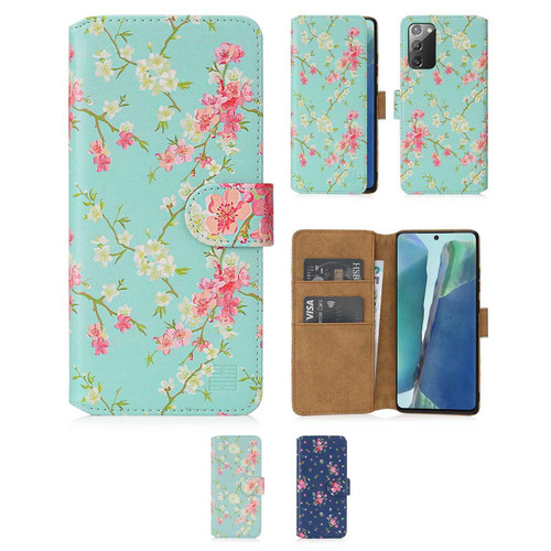 Samsung Galaxy Note 20 'Floral Series 2.0' PU Leather Design Book Wallet Case