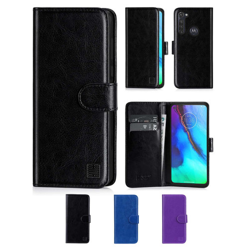 Motorola Moto G Pro (2020) 'Book Series' PU Leather Wallet Case Cover