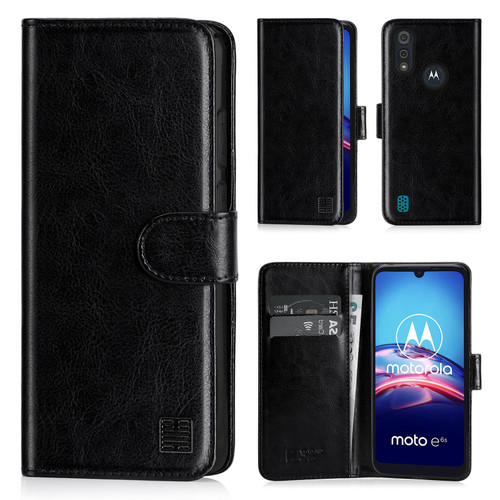 Motorola Moto E6S 'Book Series' PU Leather Wallet Case Cover