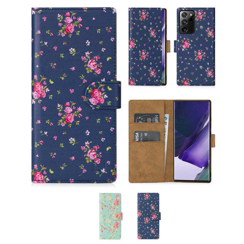 Samsung Galaxy Note 20 Ultra 'Floral Series 2.0' PU Leather Design Book Wallet Case