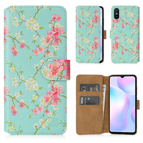 Xiaomi Redmi 9A 'Floral Series 2.0' PU Leather Design Book Wallet Case