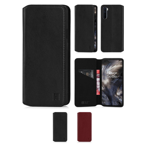OnePlus Nord 'Classic Series 2.0' Real Leather Book Wallet Case