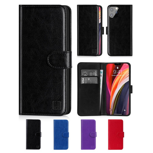 "Apple iPhone 12 Pro Max (6.7"") 'Book Series' PU Leather Wallet Case Cover"
