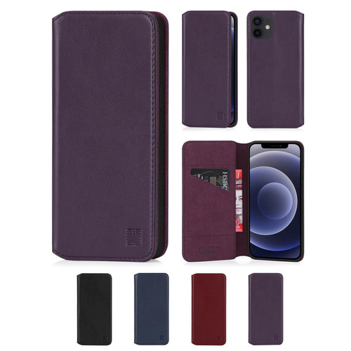 "Apple iPhone 12 (6.1"") / iPhone 12 Pro (6.1"") 'Classic Series 2.0' Real Leather Book Wallet Case"