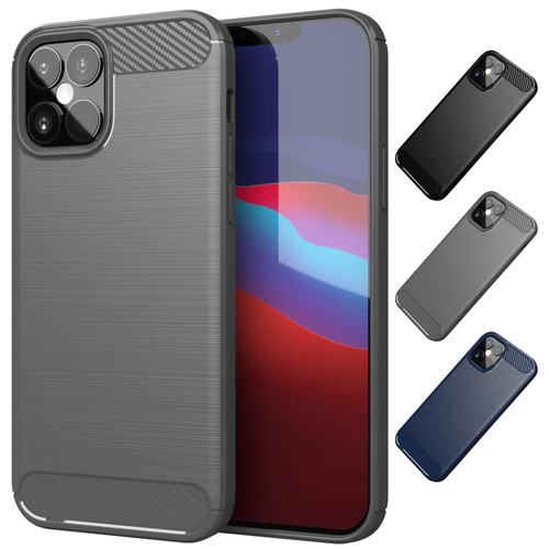 "Apple iPhone 12 (6.1"") / Apple iPhone 12 Pro (6.1"") 'Carbon Series' Slim Case Cover"